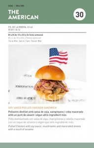 The American - Soy sauce pulled chicken sandwich - Sitges Tapa a Tapa 2016