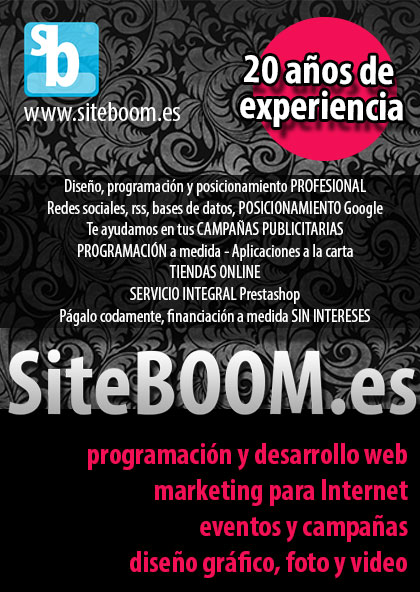 Paginas web autogestionables tiendas on-line - SiteBOOM.es