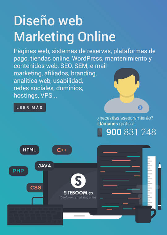 Diseño web y marketing online SITEBOOM
